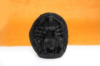 ドゥルガー女神像(シャーラグラーマ、273g)(受注発注品)
