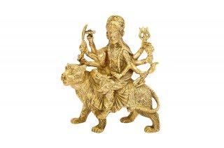 ドゥルガー女神像(真鍮製、高さ約12.7cm)(受注製作)