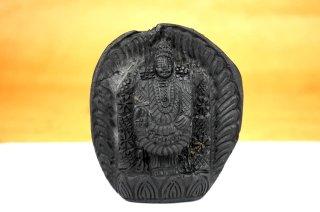 ティルパティ・バラジ神像(シャーラグラーマ、367g)(受注発注品)