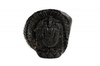 ティルパティ・バラジ神像(シャーラグラーマ、531g)(受注発注品)