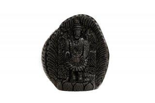 ティルパティ・バラジ神像(シャーラグラーマ、302g)(受注発注品)