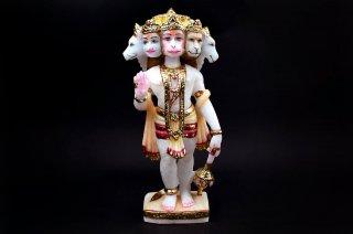 パンチャームカ・ハヌマーン神像(大理石、彩色、高さ約25cm、約1.39kg)(受注発注品)
