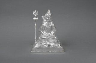 シヴァ神座像(シルバー、約254グラム)(受注製作)