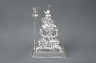 シヴァ神座像(シルバー、約479グラム)(受注製作)