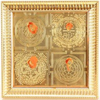 サルヴァ・ヴィディヤー・マハー・ヤントラ(16cm×16cm)