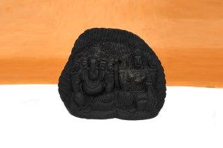 ラクシュミー&ガネーシャ神像(シャーラグラーマ、691g)(受注発注品)