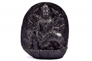 ドゥルガー女神像(シャーラグラーマ、530g)(受注発注品)