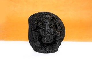 ガネーシャ神像(シャーラグラーマ、300g)(受注発注品)