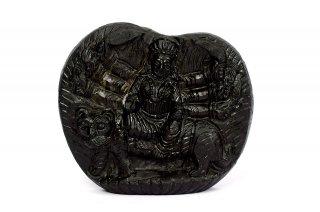 ドゥルガー女神像(シャーラグラーマ、258g)(受注発注品)