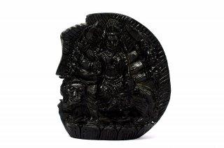 ドゥルガー女神像(シャーラグラーマ、317g)(受注発注品)