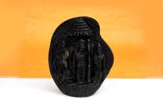 ラーマ・ダルバール神像(シャーラグラーマ、534g)(受注発注品)
