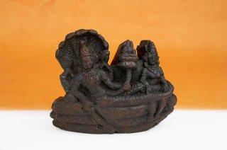 アナンタ・パドマナーバ神像(シャーラグラーマ、260グラム)(受注発注品)