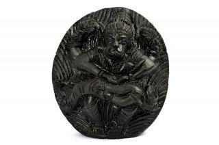ナラシンハ神像(シャーラグラーマ、258グラム)(受注発注品)