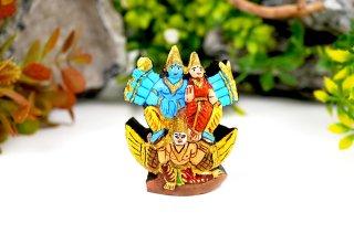 シュリーマン・ナーラーヤナ神像(シャーラグラーマ、193グラム)(受注発注品)