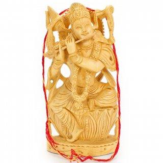 クリシュナ神像(木製)