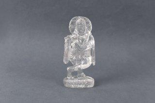 クリシュナ神像(水晶製、70グラム)(受注発注品)