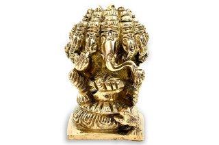 パンチャムキ・ガネーシャ神像(真鍮)