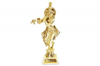 クリシュナ・リーラ神像(真鍮製)