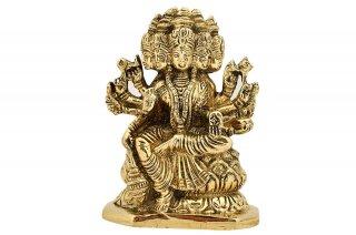 ガーヤトリー女神像(真鍮製、高さ約11.4cm)