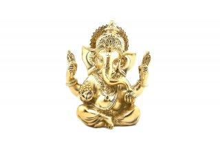 ガネーシャ神像(真鍮製、高さ約13.4cm)(受注製作)