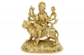ドゥルガー像(真鍮製)