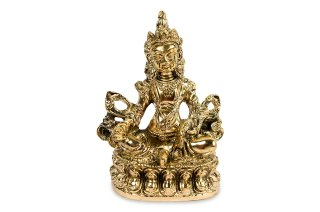 クベーラ神像(真鍮製、高さ約12cm)