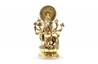 ガネーシャ神像(真鍮製、ドリシュティ、高さ約23.3cm)(受注製作)