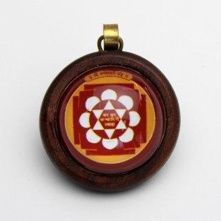 サラスワティー・ヤントラ・ペンダント(木製)
