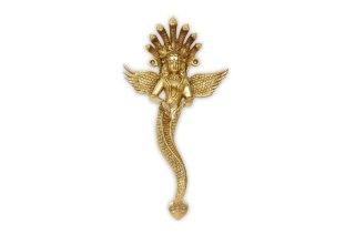 ナーガ・カニヤー女神像(真鍮製)(受注製作)