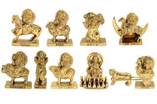 ナヴァグラハ神像セット(真鍮製)(受注製作)