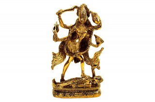 ターンダヴァ・カーリー女神(真鍮製)