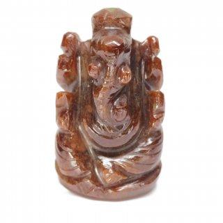 ゴーメーダ(ヘソナイト)・ガネーシャ神像(約15グラム、高さ約3.1cm)