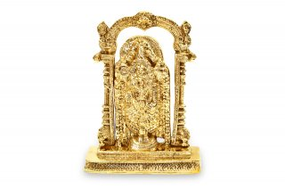 ティルパティ・バラジ神像(真鍮製、高さ約22.2cm)(受注製作)