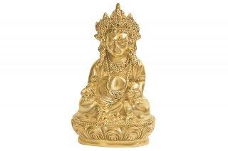 クベーラ神像(真鍮製、高さ約23.5cm)