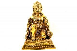 ハヌマーン神像(真鍮製、高さ約23.2cm)(受注製作)