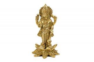 ヴィシュヌ神像(真鍮製、高さ約11cm)(受注製作)