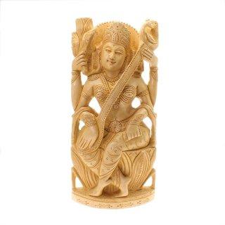 サラスワティー女神像(木製)