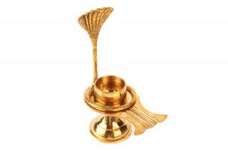 シヴァリンガム用ヨーニ(真鍮製、蛇装飾B)(受注製作)