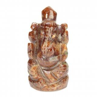 ゴーメーダ(ヘソナイト)・ガネーシャ神像(約13グラム、高さ約3.3cm)