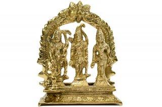 ラーマ・ダルバール神像(真鍮製、高さ約12cm)(受注製作)
