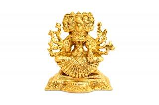 ガーヤトリー女神像(真鍮製、高さ約12.7cm)(受注製作)