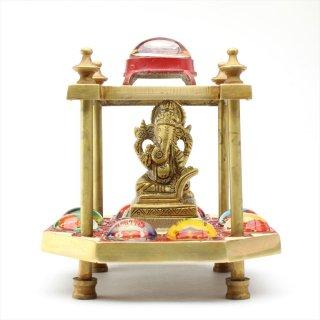 アシュタ・ヴィナーヤカ・ヤントラ(立体、真鍮製)