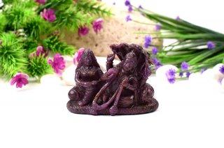 ルビー・ヴィシュヌ&ラクシュミー神像(受注発注品)
