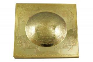 シュリー・ヤントラ(ドーム型、約23cm×23cm)(受注製作)
