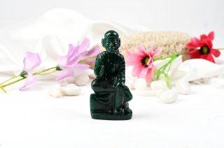 グリーンクォーツァイト・シルディ・サイババ神像(139g)(受注発注品)