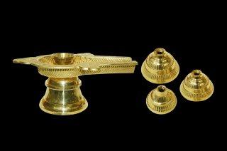 シヴァリンガム用ヨーニ(真鍮製、蛇装飾なし)(受注製作)