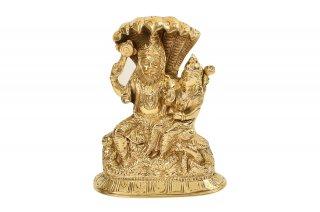 ナラシンハ&ラクシュミー神像(真鍮製)(受注製作)