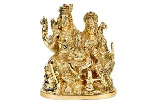 シヴァ・パリヴァール像(真鍮製、高さ約17.8cm)(受注製作)