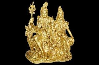 シヴァ・パリヴァール像(真鍮製)(B)(受注製作)