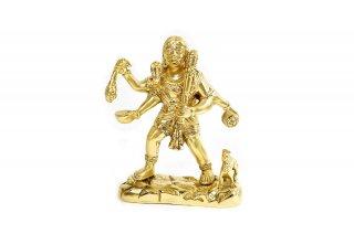 カーラ・バイラヴァ神像(高さ約17cm、真鍮製)(受注製作)